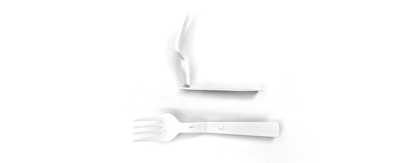 PLA & plastic knife fork spoon intelligent production system - folding fork
